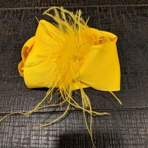 5 inch yellow bow